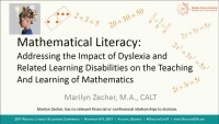 Mathematical Literacy: Creating Instructional Models That Meet the Needs of Students With Dyslexia and Related Learning Disabilities icon