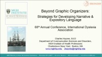 Beyond Graphic Organizers: Strategies for Developing Narrative and Expository Language