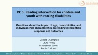 Reading Intervention for Children and Youth With Reading Disabilities... icon