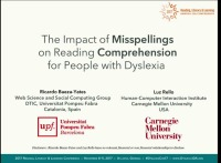 The Impact of Misspellings on Reading Comprehension for People With Dyslexia