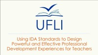 Using IDA Standards to Design Powerful and Effective Professional-Development Experiences for Teachers icon