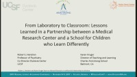 From Laboratory to Classroom: Lessons Learned in a Partnership Between a Medical Research Center and a School for Children Who Learn Differently icon