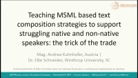 """Improving Writing Skills of Dyslexic Native and Non-Native Speakers of English With MSML """"Tricks of the Trade"""" icon"""