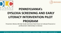 Pennsylvania's Dyslexia Screening and Early Literacy Intervention Pilot: Bringing Reading Research and Best Practices to the Public School Classroom. icon