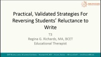 Practical, Validated Strategies for Reversing Students Reluctance to Write icon
