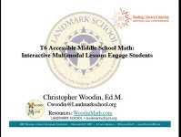 Accessible Middle School Math: Interactive Multimodal Lessons Engage Students icon