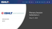 New Frontiers in Heart and Lung Transplantation: ISHLT2020 Plenary Session Selections I icon