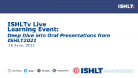 Deep Dive into Oral Presentations from ISHLT2021 icon