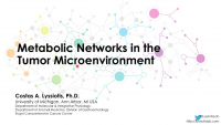 Metabolic Networks in the Tumor Microenvironment icon