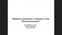 Metabolic Symbioses in Stressful Tumor Microenvironments icon