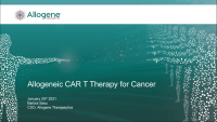 Allogeneic CAR T Therapy for the Treatment of Cancer icon