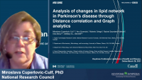 Short Talk: Analysis of Changes in Lipid Network in Parkinson's Disease through Distance Correlation and Graph Analytics icon