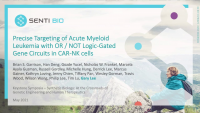 Precise Targeting of Acute Myeloid Leukemia with OR / NOT Logic-Gated Gene Circuits in CAR-NK Cells icon