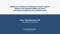 Signatures of resilience to Alzheimer's disease cognitive decline in the integrated snRNA-seq mouse and human microglia from the prefrontal cortex icon