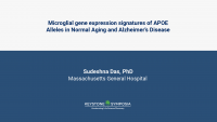 Microglial gene expression signatures of APOE Alleles in Normal Aging and Alzheimer's Disease icon
