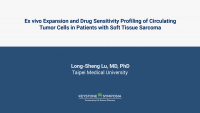 Ex vivo expansion and drug sensitivity profiling of circulating tumor cells in patients with soft tissue sarcoma icon
