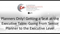 Planners Only! Getting a Seat at the Executive Table: Going From Senior Planner to the Executive Level