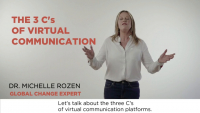 The 3 Cs of Virtual Communication When Working Remotely  icon