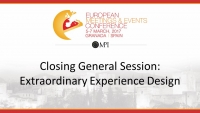 Closing General Session: Extraordinary Experience Design