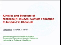 Kinetics and Structure of Nickelide Contact Formation to InGaAs Fin Channels icon