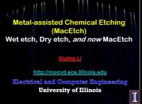 Tutorial OO: Introduction to Metal-Assisted Chemical Etching - Chemistry and Applications icon