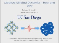 Tutorial WW: Measure Ultrafast Dynamics - How and Why icon