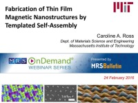 Fabrication of Thin Film Magnetic Nanostructures by Templated Self-Assembly icon