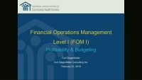 Budgeting & Profitability Within Health Centers icon
