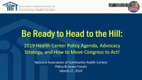 Be Ready to Head to the Hill: 2019 Health Center Policy Agenda, Advocacy Strategy, and How to Move Congress to ACT! icon