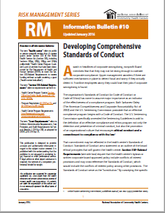 RM Information Bulletin: Developing Comprehensive Standards of Conduct