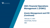 Grants Management and FFR (cont.) icon