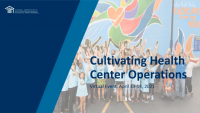 Welcome and Introduction to Cultivating Health Center Operations icon