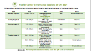 Health Center Governance Sessions at CHI 2021