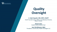 Board Member Boot Camp Part 3: Critical Components of Health Center Governance -- Quality Oversight and Board Member Advocacy icon