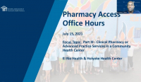 July 2021 Pharmacy Office Hour icon