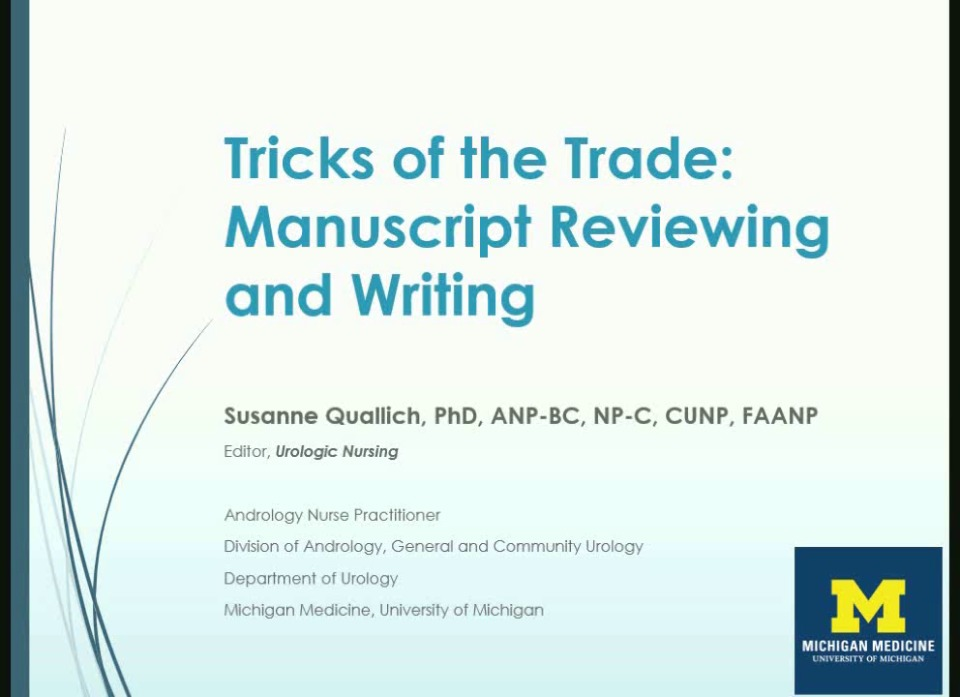 Tricks of the Trade: Manuscript Reviewing and Writing