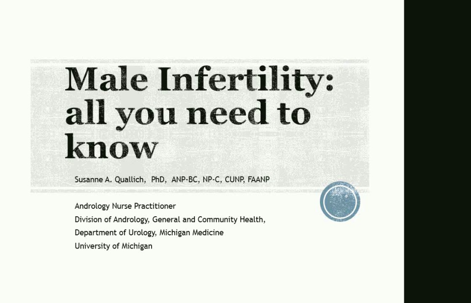 Male Infertility: All You Need to Know