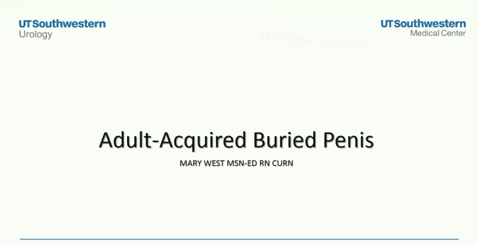 Adult Buried Penis: A Multidisciplinary Approach to Treatment