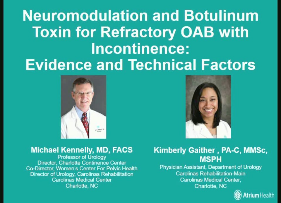 Neuromodulation and Botulinum Toxin for Refractory OAB with Incontinence: Evidence and Technical Factors