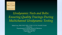 Urodynamic Nuts and Bolts - Ensuring Quality Tracings During Multichannel Urodynamic Testing icon