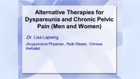 Alternative Therapies for Dyspareunia and Chronic Pelvic Pain (Men and Women) icon
