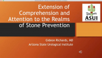 Extension of Comprehension and Attention to the Realms of Stone Prevention