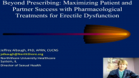 Beyond Prescribing: Maximizing Patient and Partner Success with Pharmacological Treatments for Erectile Dysfunction
