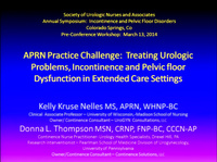 APRN Practice Challenge: Treating Geriatric Urologic Problems, Incontinence and Pelvic Floor Dysfunction in Extended Care Settings icon