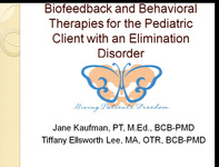 Biofeedback and Behavioral Therapies for the Pediatric Client with an Elimination Disorder icon