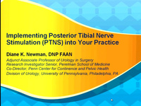 Implementing Posterior Tibial Nerve Stimulation (PTNS) into Your Practice icon