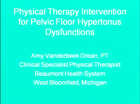Physical Therapy Intervention for Pelvic Floor Hypertonus Dysfunctions icon