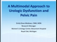 A Multimodal Approach to Urologic Dysfunction and Pelvic Pain