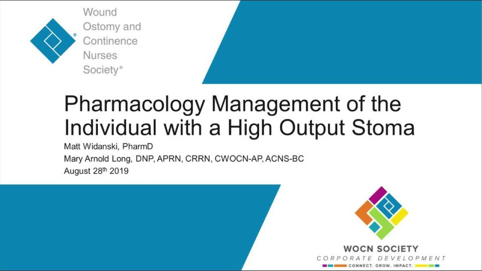 Pharmacological Management of the Individual with a High Output Stoma icon