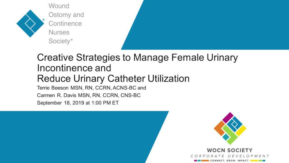 Creative Strategies to Manage Female Urinary Incontinence and Reduce Urinary Catheter Utilization icon
